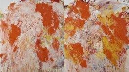 Aida Tomescu, 'Eyes in the Heat', 2015, oil on canvas, 183 x 306cm