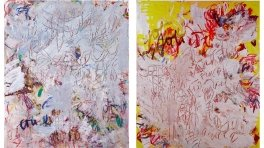 Aida Tomescu, 'Tierkreis 2009' and 'Anemone 2009' oil, pastel and oil pigment on linen 184 x 154 cm