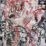 Aida Tomescu, 'Welt II', 2005, mixed media and collage on paper, 120 x 90cm