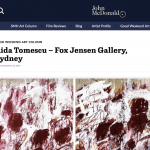 Aida Tomescu Exhibition - Good Weekend Review