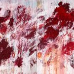 Aida Tomescu, 'In The Crown of Broken April', 2020,oil on Belgian Linen, 190 x 306 cm (Diptych)