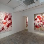 Installation view of Aida Tomescu, Into a Carpet Made of Water